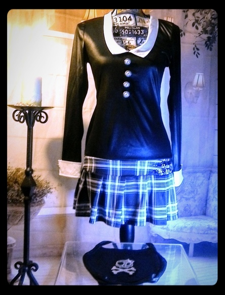 Gothic Schoolgirl Costume Dream Girl Lingerie